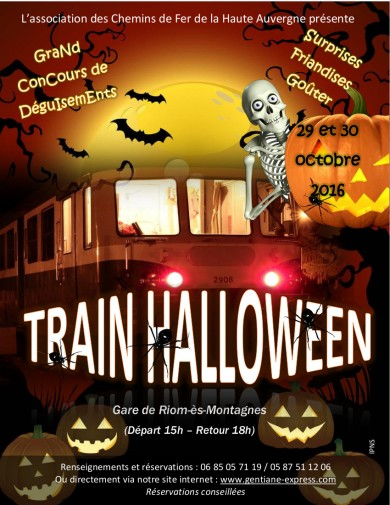 Le train d'Halloween